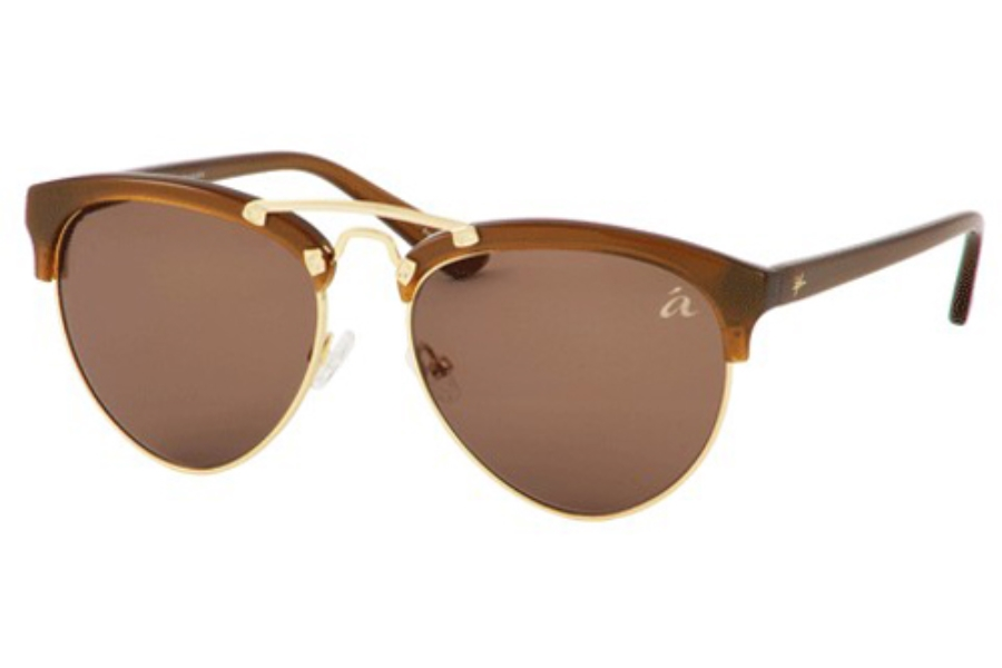 Ale by Alessandra ALE 4010 Sunglasses in Brown/Gold