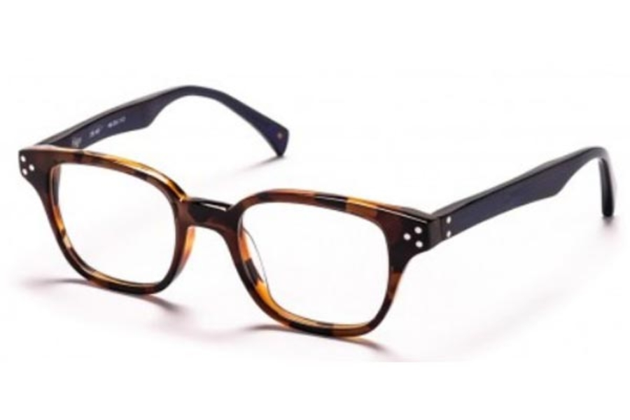 AM Eyewear Higgs Eyeglasses in Havana Deep Blue