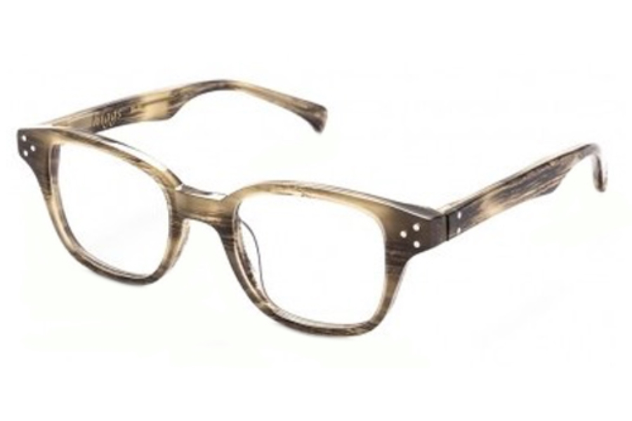 AM Eyewear Higgs Eyeglasses in Vegan Horn