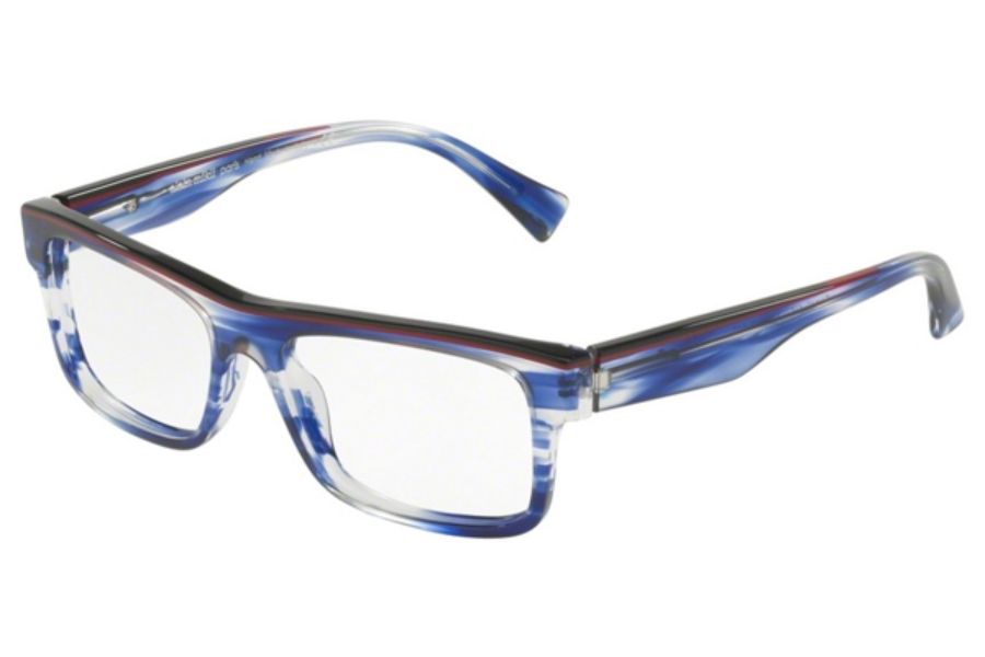 bb975f1b955d Alain Mikli A03047 Eyeglasses in 002 BLACK BORDEAUX PAINT BLUE ...