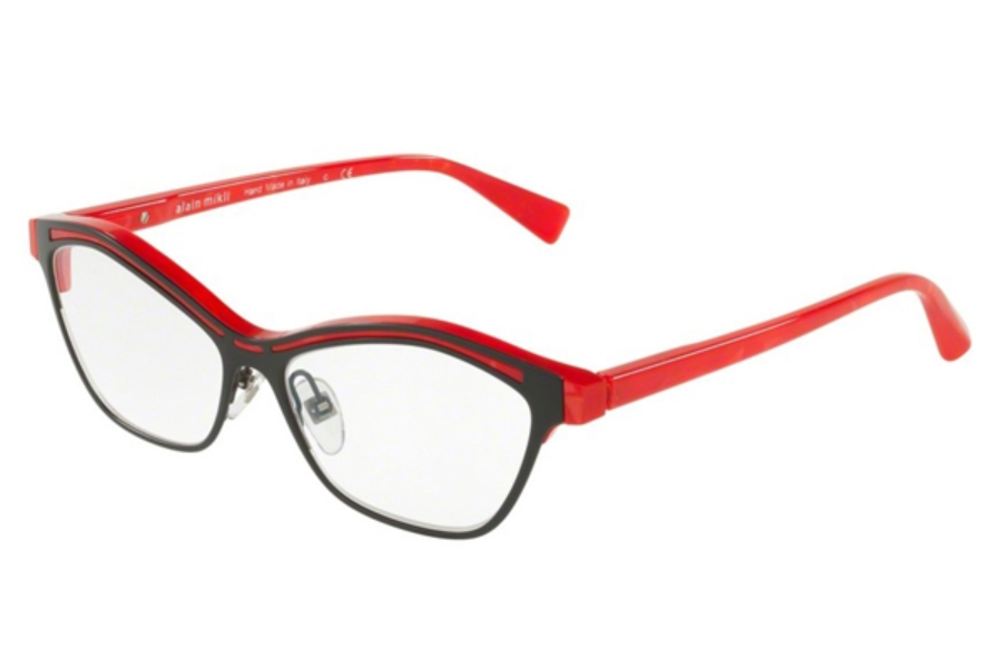Alain Mikli A03071 Eyeglasses in 002 Red Matt Black