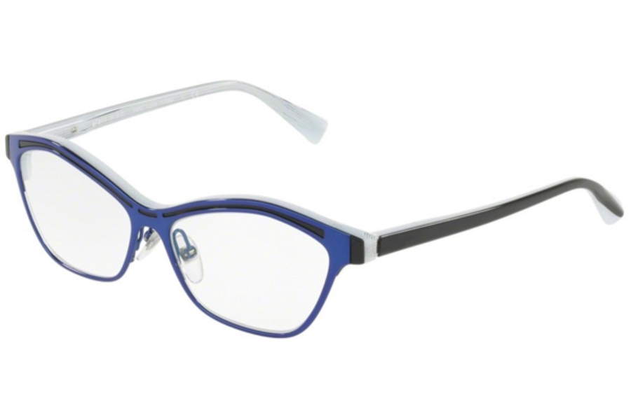 Alain Mikli A03071 Eyeglasses in 004 Top Black Glitter/White Blue