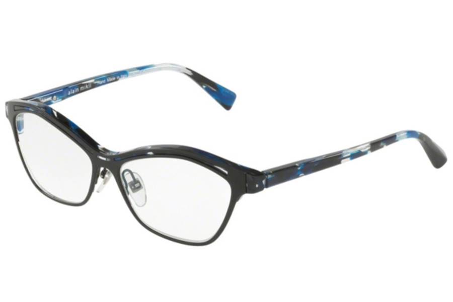 Alain Mikli A03071 Eyeglasses in 005 Havana Blue Matt Black