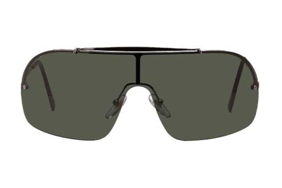 b286adc3f1 Ray-Ban RB 3160 (Wings II Pande) Sunglasses in Gunmetal w G ...