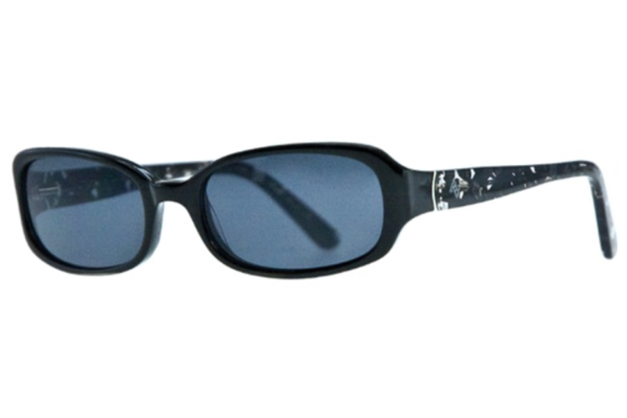 Adrienne Vittadini Studio AVS 114 Sunglasses in Black Marble