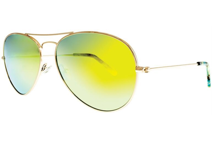 Adrienne Vittadini Studio AVS 132 Sunglasses in Gold