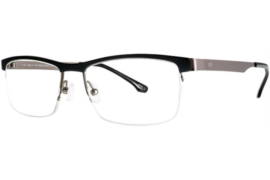 Aero F81 Eyeglasses in Dark Gunmetal/Light Gunmetal