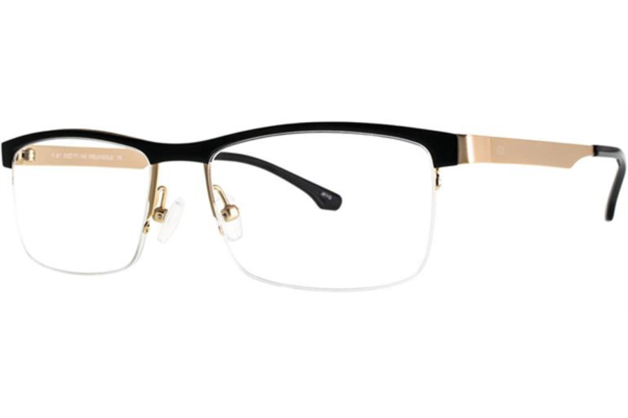 Aero F81 Eyeglasses in Matte Black/Gold