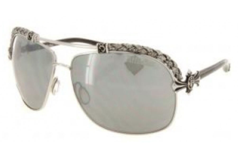 Affliction AFS Baxter-A Sunglasses in Silver White/Silver w/GREY Lenses - (/GREY)