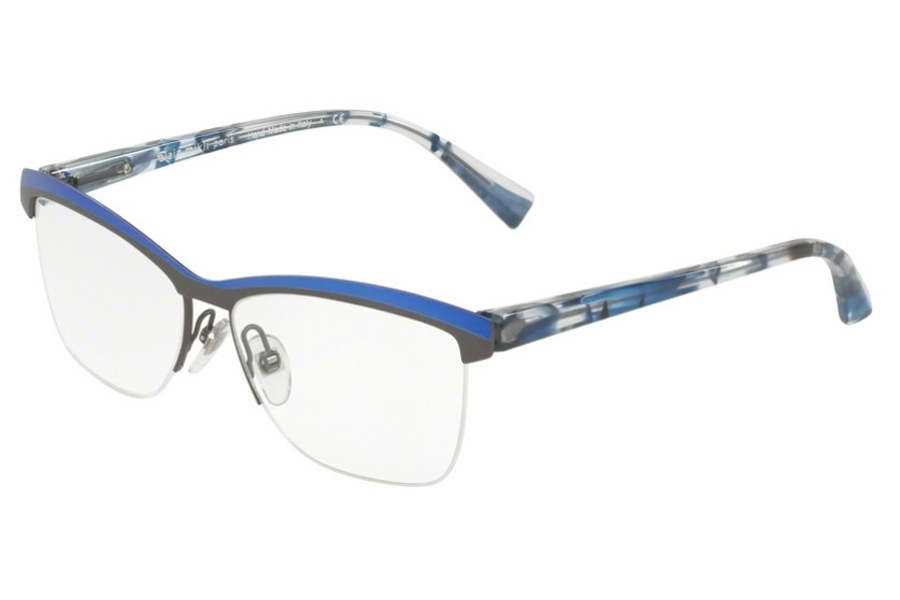 Alain Mikli A02012 Eyeglasses in 002 Blue Ruthenium
