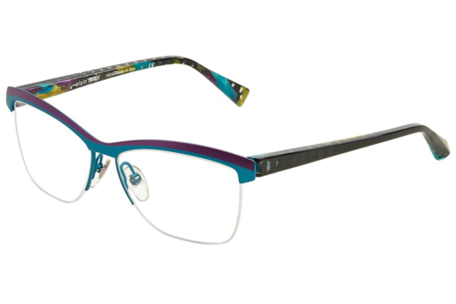Alain Mikli A02012 Eyeglasses in 3039 Purple Torquoise