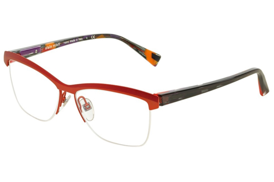Alain Mikli A02012 Eyeglasses in 3051 Red Orange