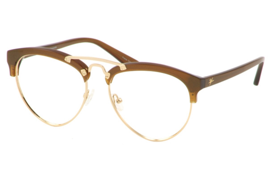 Ale by Alessandra ALE 622 Eyeglasses in Brown Gold