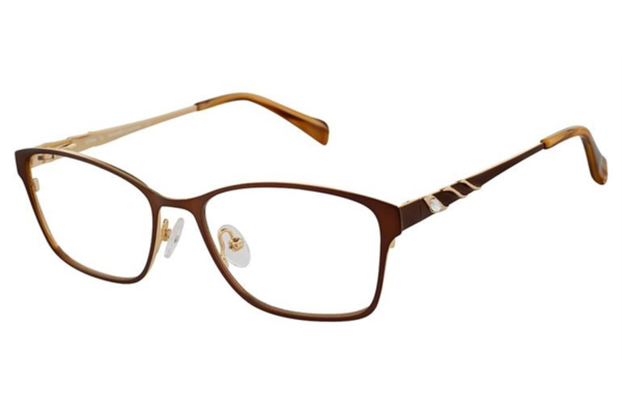 Alexander Collection Gillian Eyeglasses in Chocolate