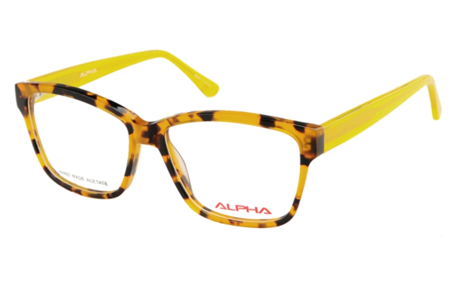 Alpha Viana 3054 Eyeglasses in Demi Yellow/Yellow