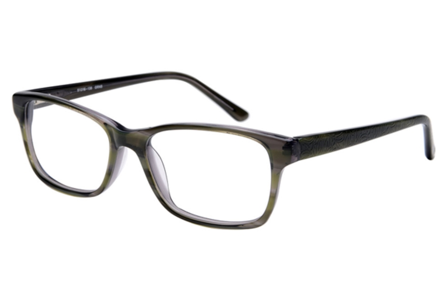 Amadeus A1003 Eyeglasses in GRNS Green Stripe over Gray