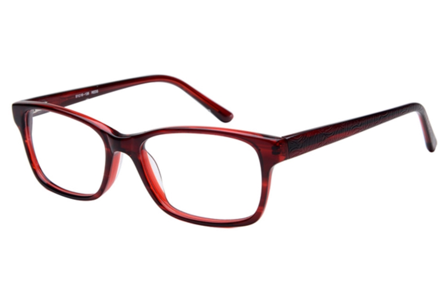 Amadeus A1003 Eyeglasses in REDS Red Stripe over Red