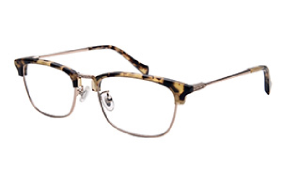 Amadeus A1006 Eyeglasses in DBRN/GLD Tortoise Zyl Over Gold Metal