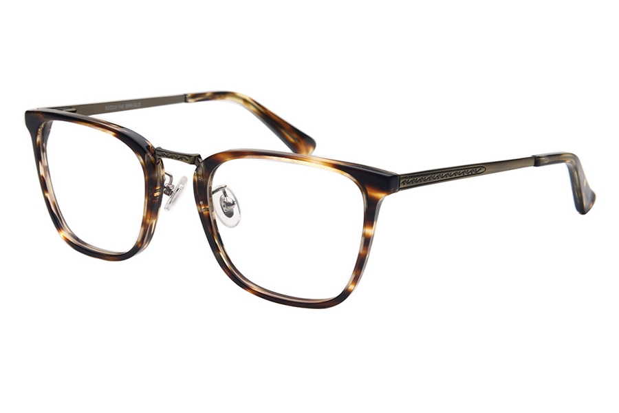 Amadeus A1008 Eyeglasses in BRN/AG Brown Marble