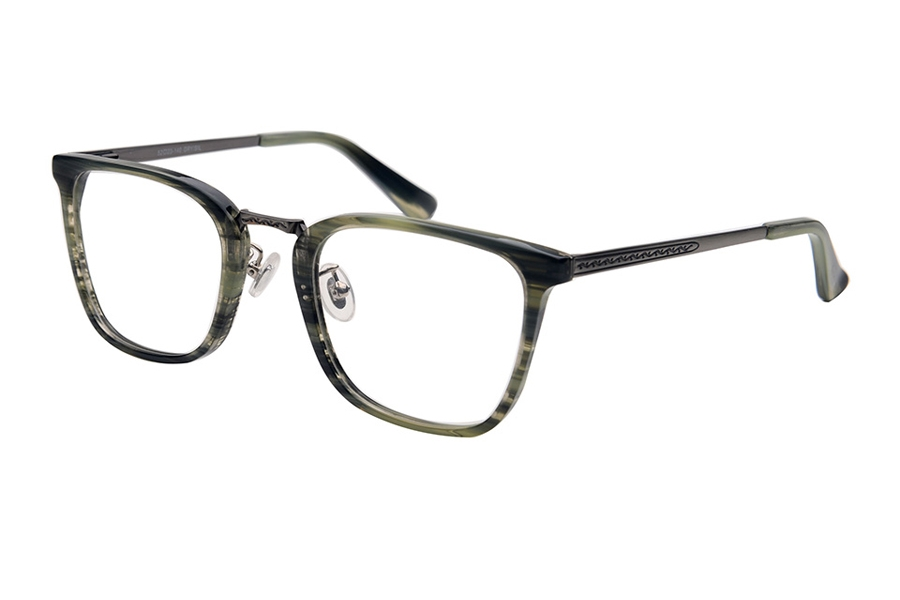 Amadeus A1008 Eyeglasses in GRN/AS Green Marble