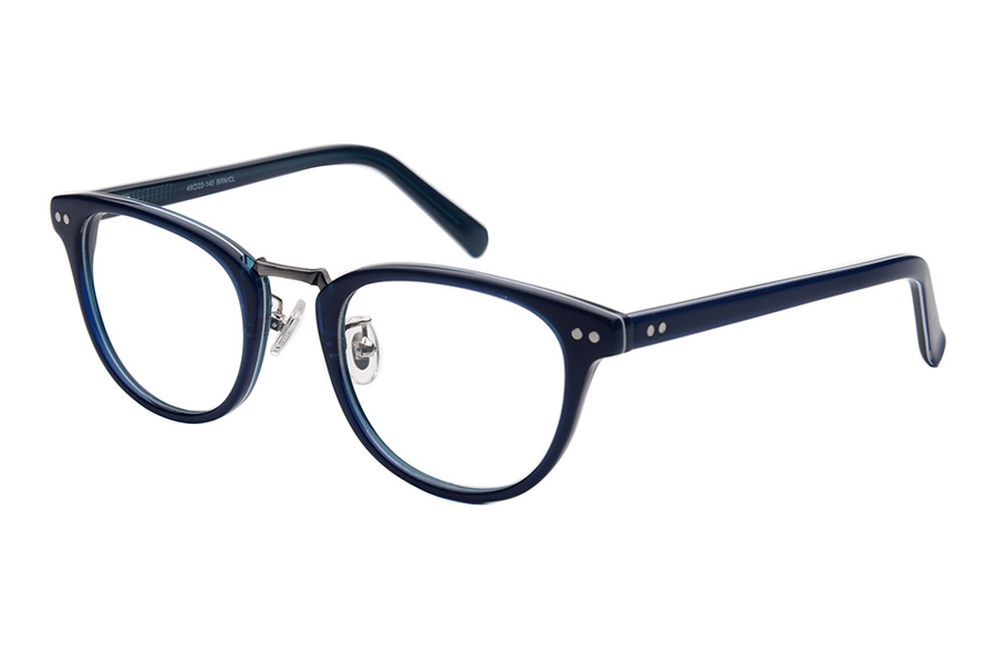 Amadeus A1009 Eyeglasses in BLU Shiny Blue