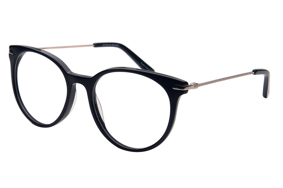 Amadeus A1010 Eyeglasses in BLK/GLD Shinny Black