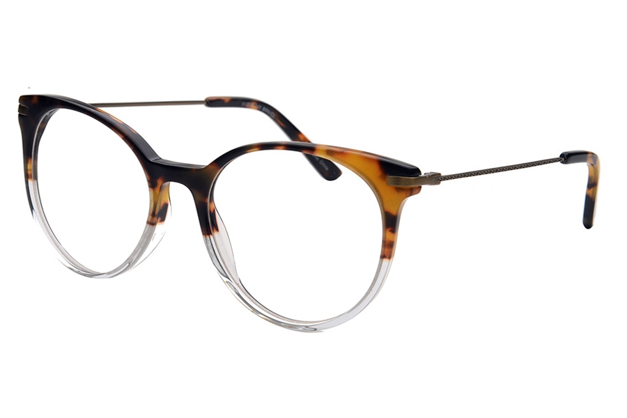 Amadeus A1010 Eyeglasses in BRN/CL Tortoise Fade With Crystal