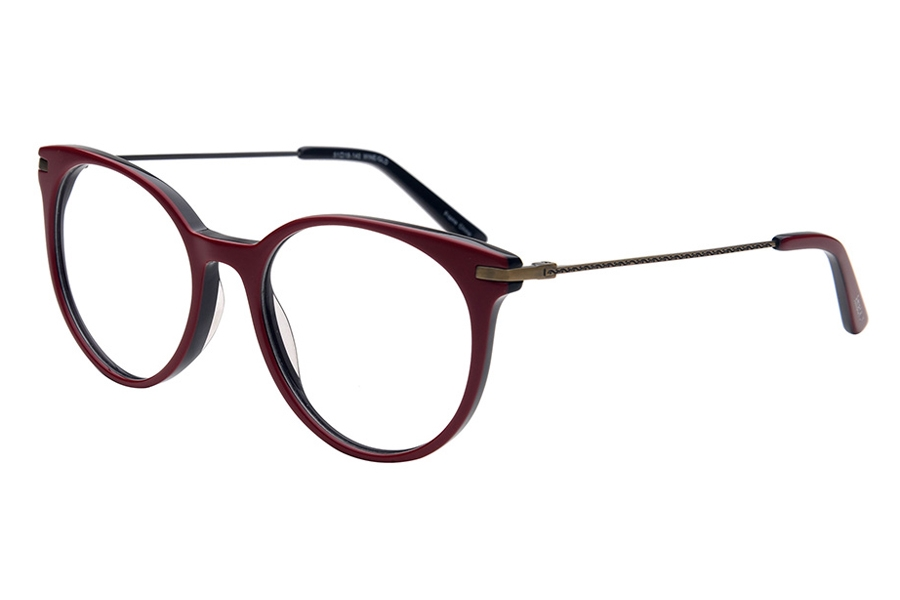 Amadeus A1010 Eyeglasses in RED Red Over Black