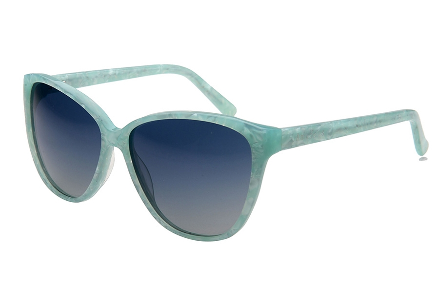 Amadeus A1011 Sunglasses in GRN Green Marble/Green Polarized