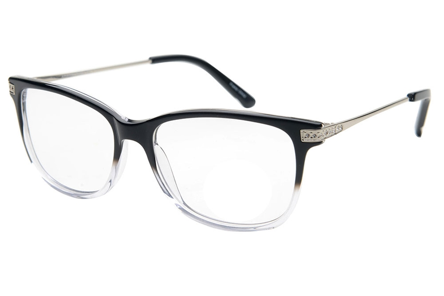 Amadeus A1021 Eyeglasses in BKC Black Fade Crystal
