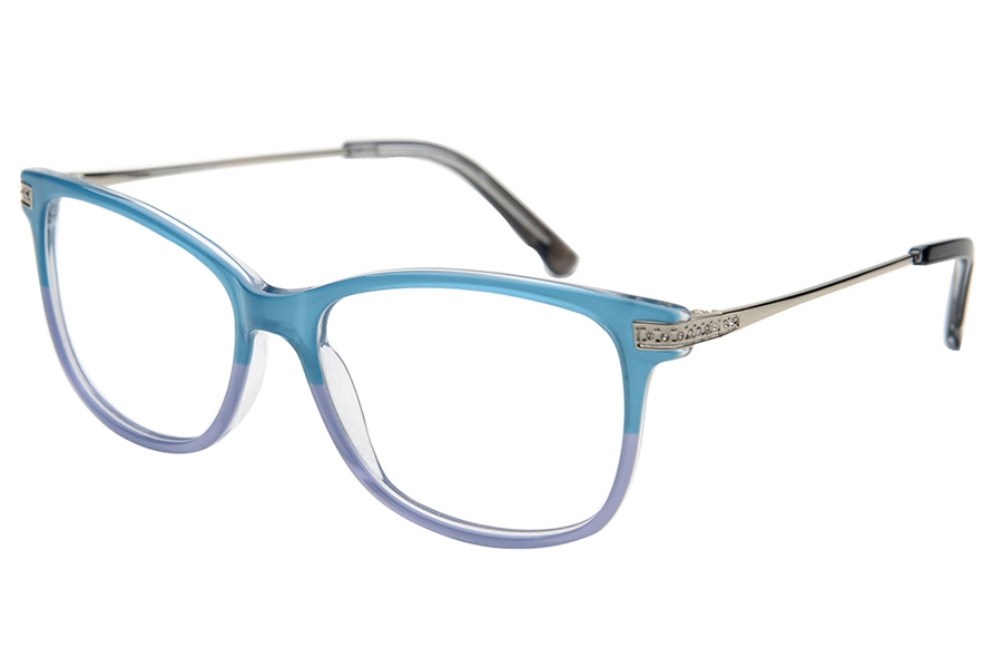 Amadeus A1021 Eyeglasses in TEAL Blue Fade Gray