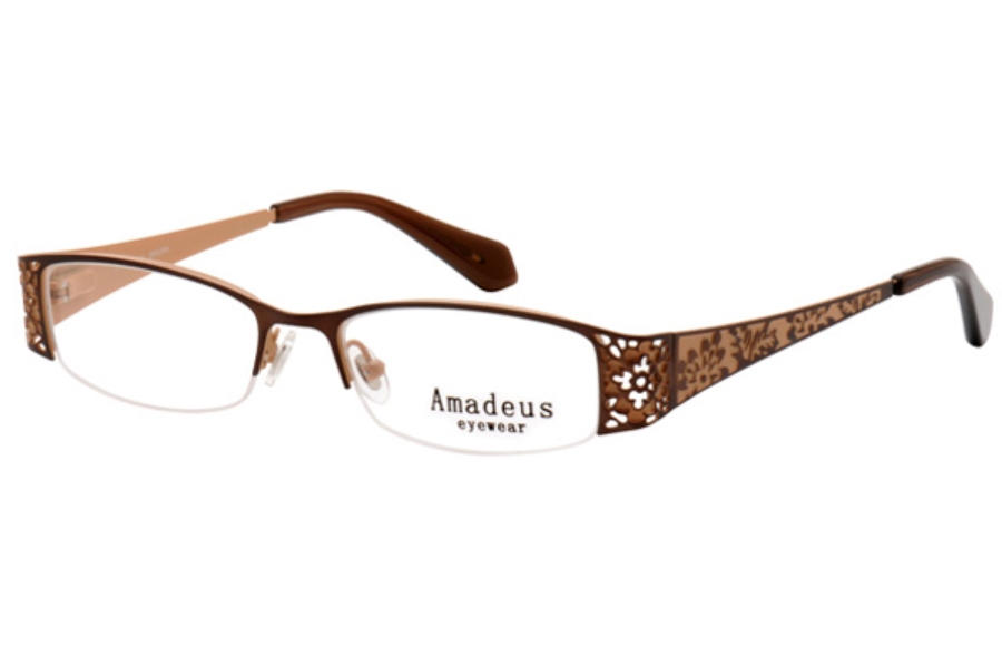 Amadeus A919 Eyeglasses in BRN/PH BROWN/PEACH