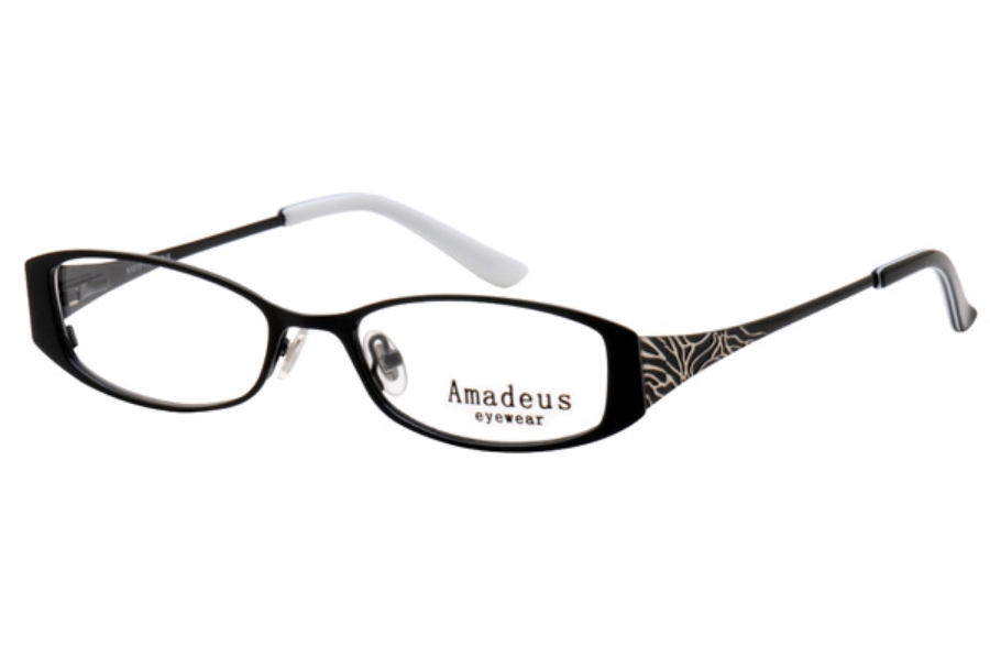 Amadeus A920 Eyeglasses in BLK BLACK