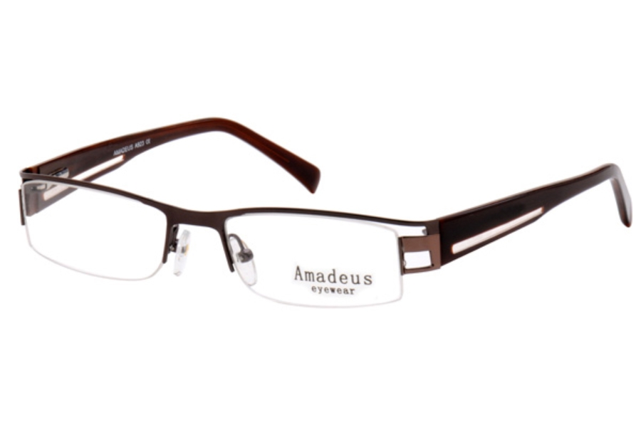 Amadeus A923 Eyeglasses in DBR/BRN DARK BROWN/BROWN