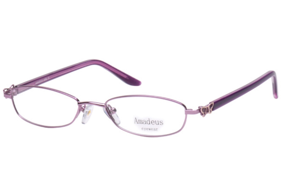 Amadeus A954 Eyeglasses in PL/GPURPLE/GOLD