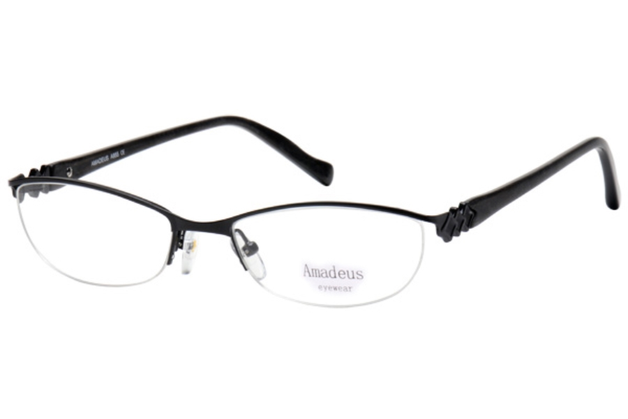Amadeus A955 Eyeglasses in BLK BLACK