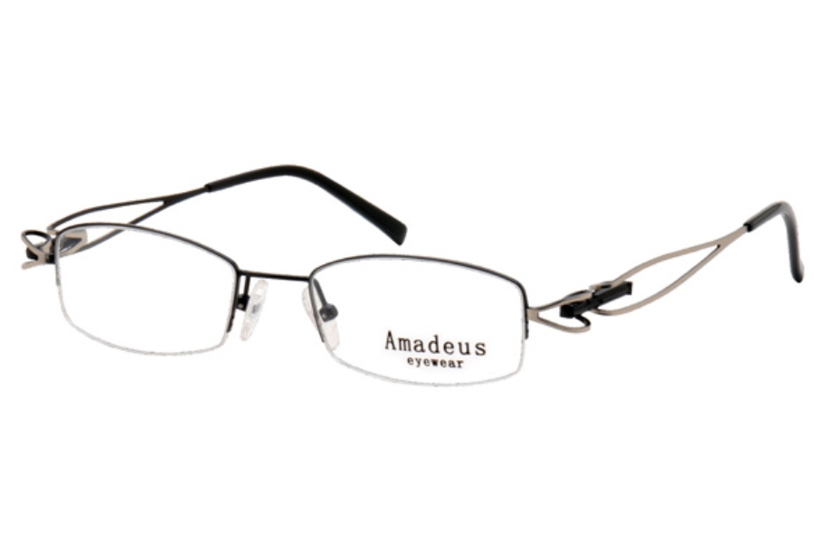 Amadeus A960 Eyeglasses in BLK/SIL BLACK/SILVER