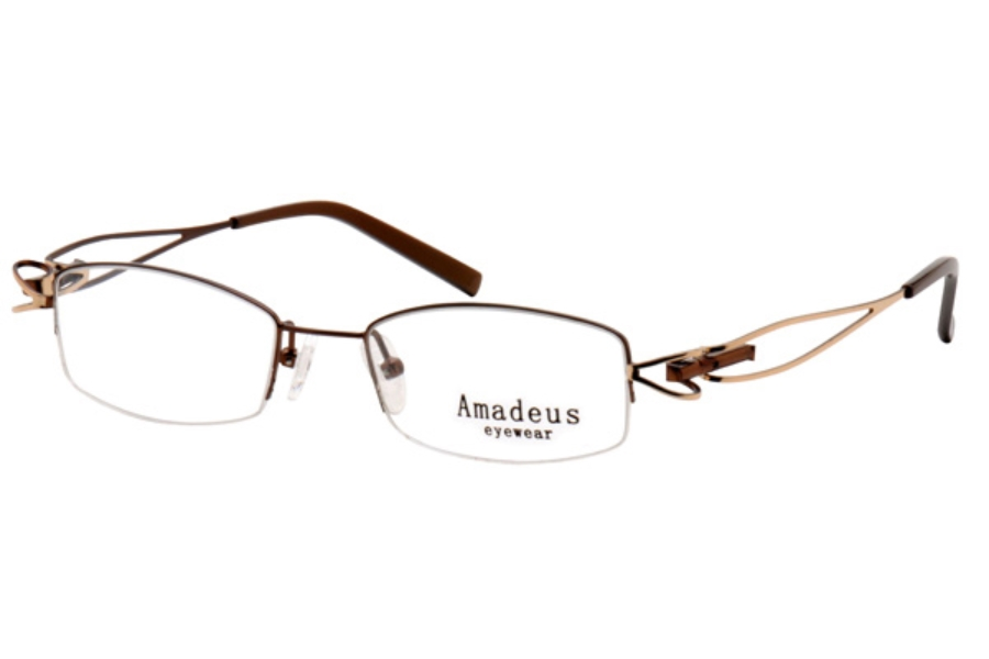 Amadeus A960 Eyeglasses in BRN/GLD BROWN/GOLD