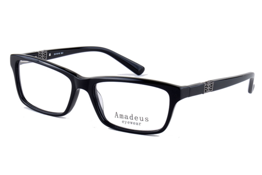 Amadeus A970 Eyeglasses in BLK Black