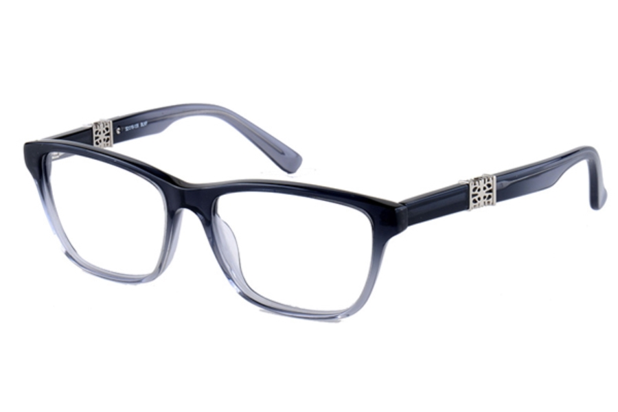 Amadeus A971 Eyeglasses in BLKF Gray Fade With Silver