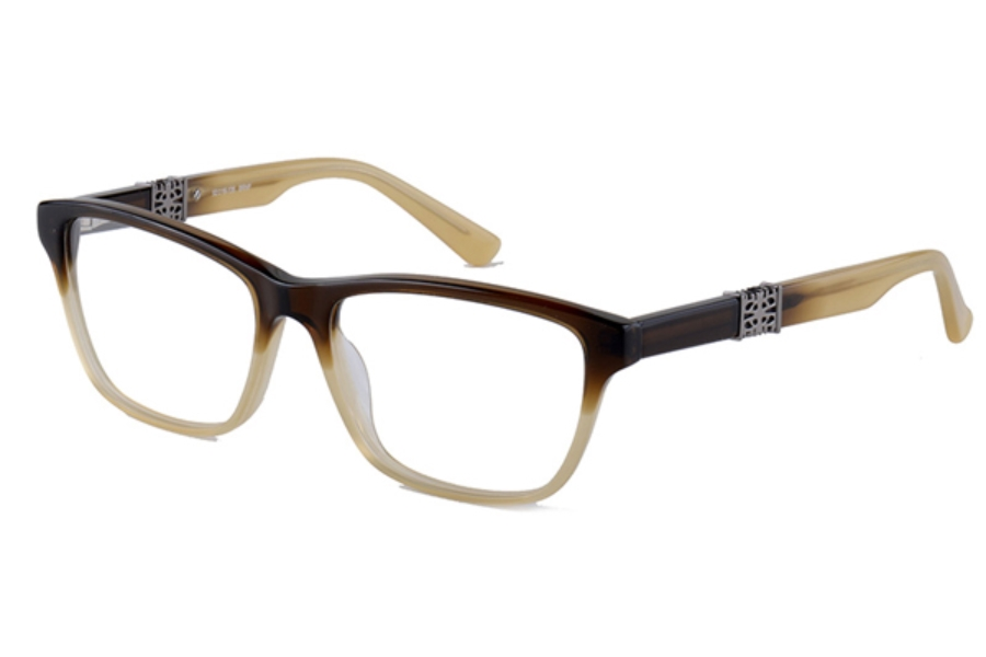 Amadeus A971 Eyeglasses in BRNF Brown Fade With Pewter