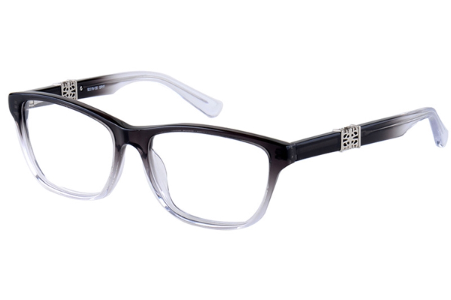 Amadeus A971 Eyeglasses in GRYF Gray Fade With Silver