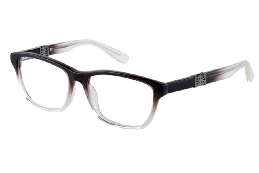 Amadeus A971 Eyeglasses in SMKF Smoke Fade With Pewter