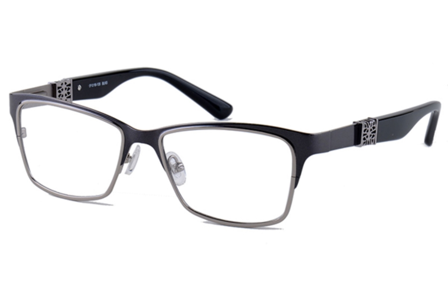 Amadeus A972 Eyeglasses in BLKS Black With Gunmetal