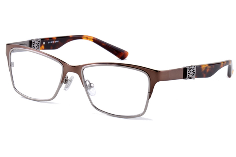 Amadeus A972 Eyeglasses in BRNS Brown With Gunmetal
