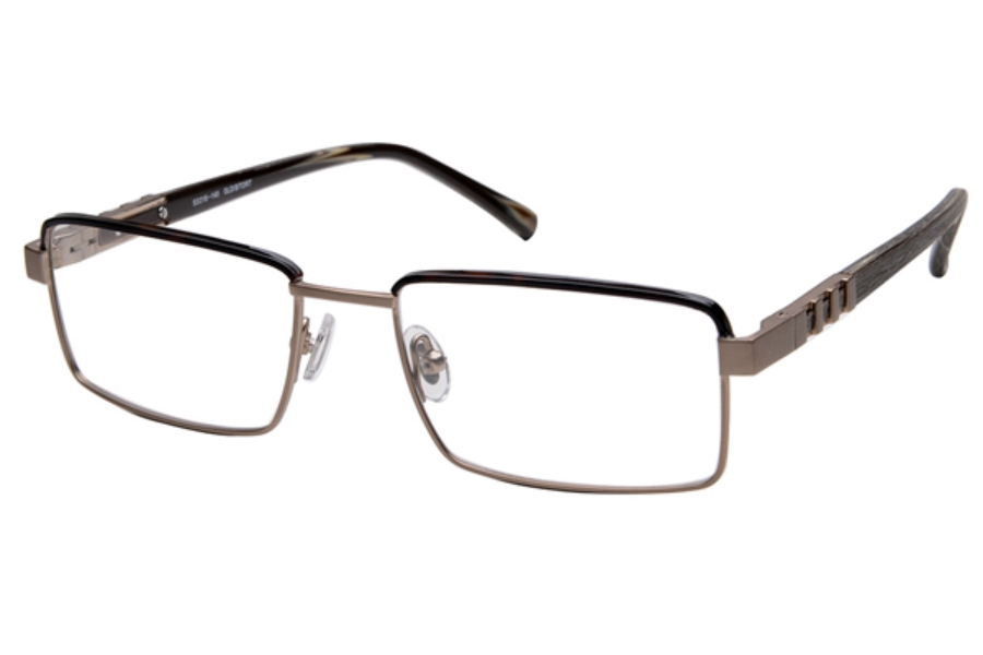 Amadeus A978 Eyeglasses in DGLD Brushed Dark Gold With B Tort