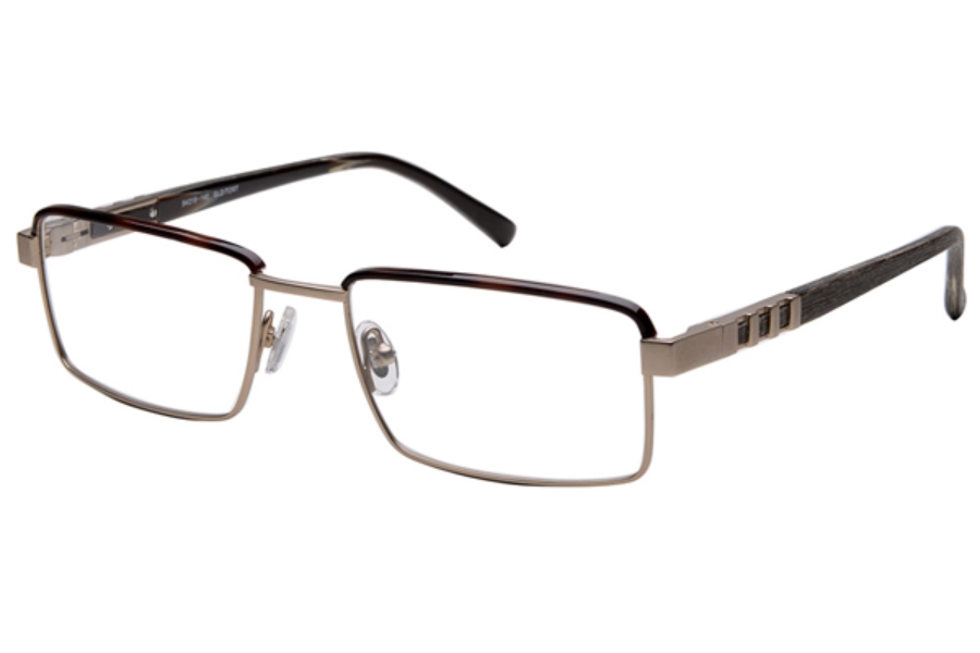 Amadeus A978 Eyeglasses in GLD Brushed Gold With Tortoise