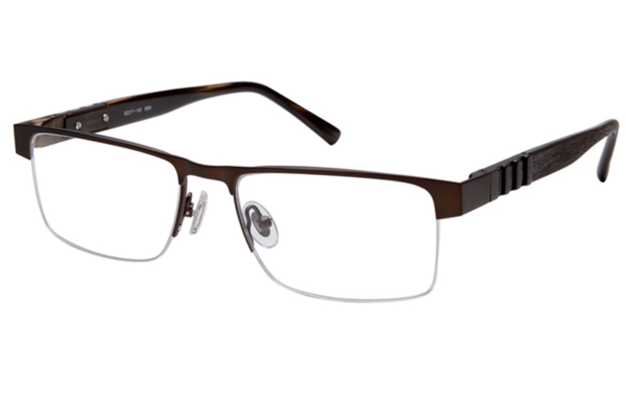 Amadeus A979 Eyeglasses in BRN Brushed Brown