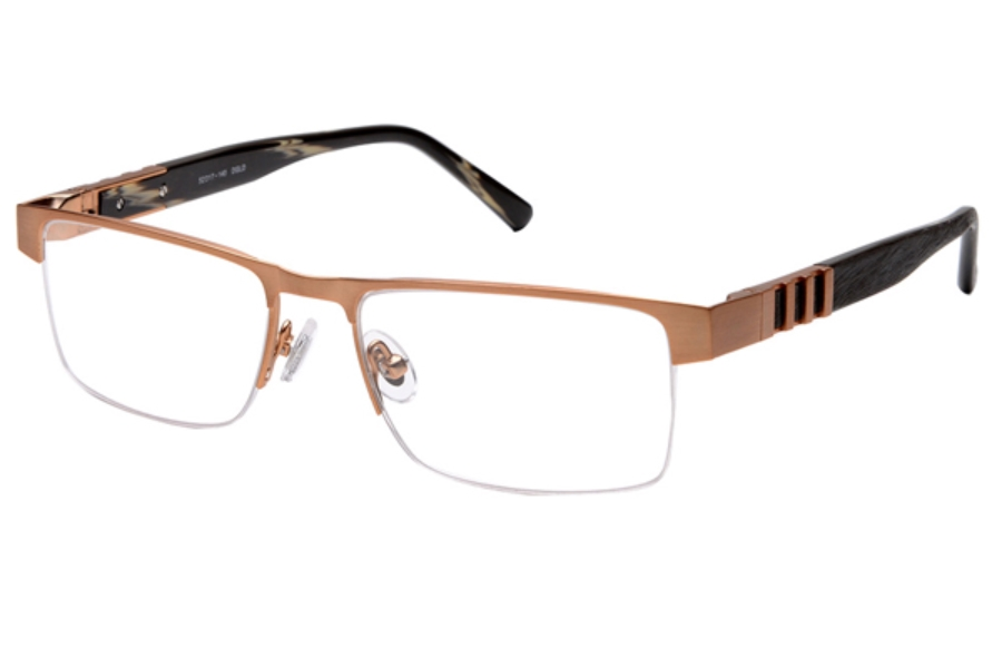 Amadeus A979 Eyeglasses in DGLD Brushed Dark Gold