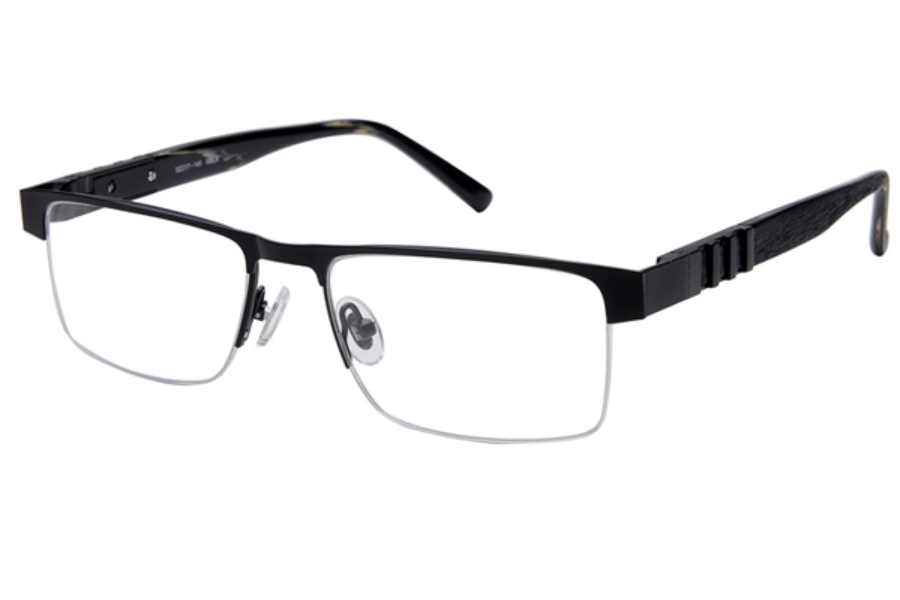Amadeus A979 Eyeglasses in MBLK Matte Black